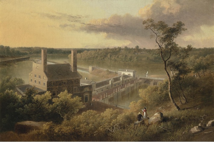 Thomas Doughty, View of the Waterworks, on the Schuylkill Seen from the Top of Fairmount, Philadelphia, oil on canvas, 1826. Philadelphia Museum of Art, purchased with the Edward and Althea Budd Fund, 2019.